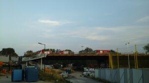 Znowu ogień na moście Łazienkowskim