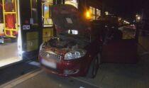 Samochód zderzył się z tramwajem. Kierowca ranny