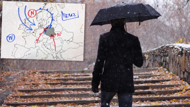 Idzie ochłodzenie. Wraz z nim deszcz i deszcz ze śniegiem