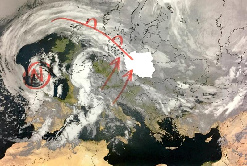 Satelitarny obraz Europy
