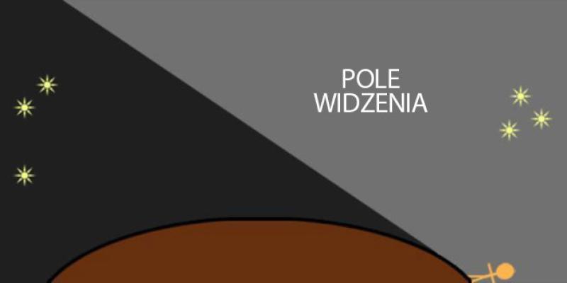Pole widzenia na kulistej powierzchni (org. Moriel Schottlender/Popular Science)
