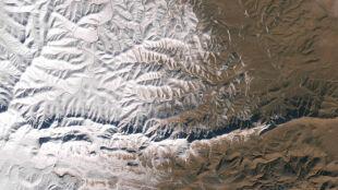 Sahara pod śniegiem okiem satelity