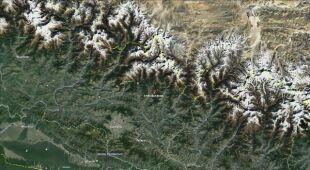 Lokalizacja osunięcia się ziemi w Nepalu